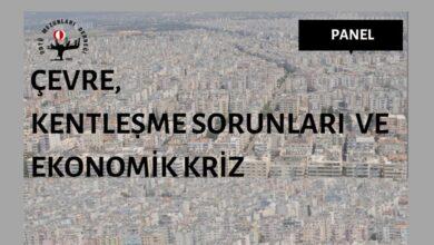 Photo of Panel | Çevre, Kentleşme Sorunları ve Ekonomik Kriz