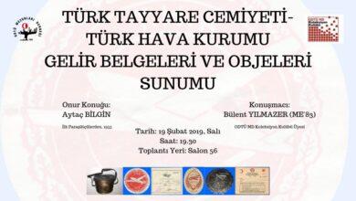 Photo of Türk Tayyare Cemiyeti- Türk Hava Kurumu Gelir Belgeleri ve Objeleri Sunumu