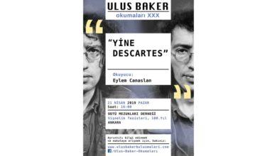 """Photo of ULUS BAKER OKUMALARI: """"Yine Descartes''"""
