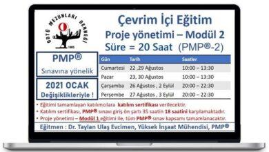 Photo of PROJE YÖNETİMİ EĞİTİMİ MODÜL – 2 BAŞLIYOR!